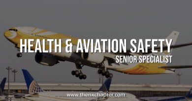 Nok Scoot รับสมัครตำแหน่ง Health & Aviation Safety (Senior Specialist)