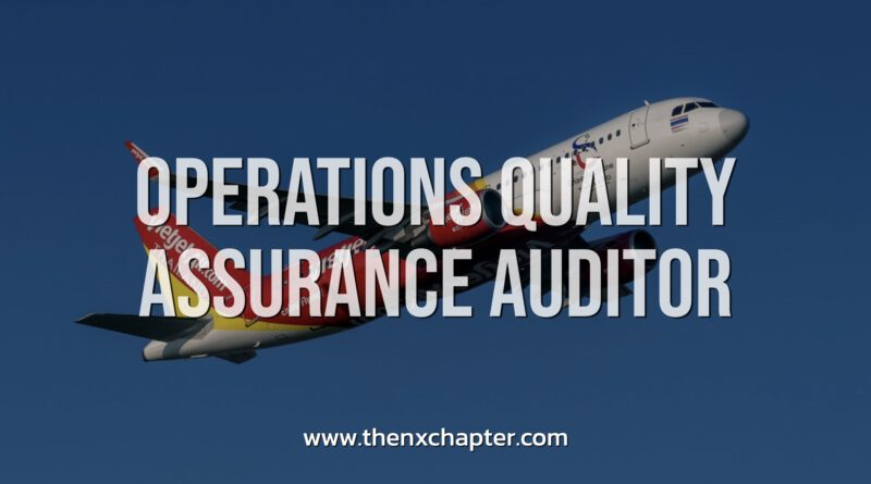 Thai Vietjet รับสมัคร Operations Quality Assurance Auditor